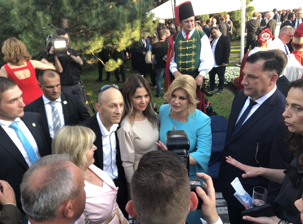 Dekanica Veleučilišta dr.sc.Vlatka Ružić na svečanom prijemu kod predsjednice RH