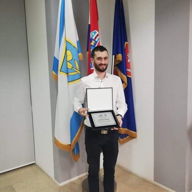 NAŠ STUDENT Leopold Špehar nagrađen za razvoj športa u Ličko-senjskoj županiji!