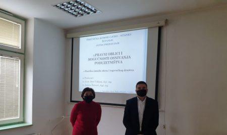 Održano predavanje o pravnim oblicima osnivanja poduzetništva